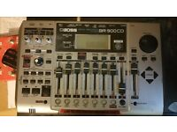 Roland Boss BR900 8 track recorder Cambridge Audio Stereo Amp and Speakers