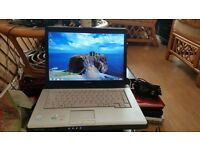 Toshiba equium a200 windows 7 120g hard drive 2g memory wifi dvd drive come with charger