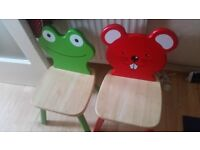 2 wooden chair was over £50 for both