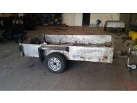 Trailer 8' x 4.5' Steel single axle trailer