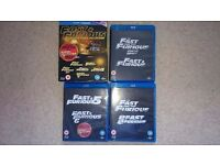 Fast and Furious Movie Collection 1-6 Blu Ray