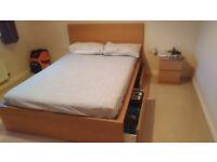 King size double bed plus foam mattress