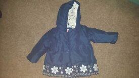 John Lewis Blue girls 9-12month coat