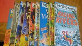 Horrible Geoghraphies set of 9 books, good stocking filler excellent condition