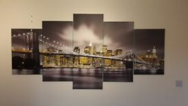 5-Piece New York canvas