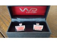 W D London cufflinks in presentation box