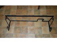 Over AGA Shelf with hook rail