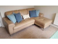 DFS Leather Corner Sofa in Fantastic Condition