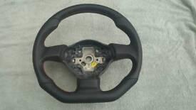Vw golf mk6 flat bottom steering wheel