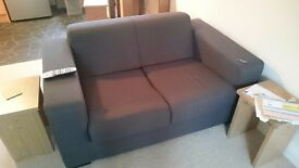 Compact 2 seater and large 2 seater sofa