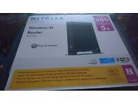 Netgear Wireless-N Router WNR2000-100UKS. Unused, In Box.