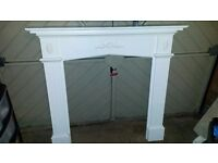 Fireplace surround with marble back and base