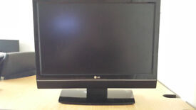 Black LG TV (good condition) + full house clearance