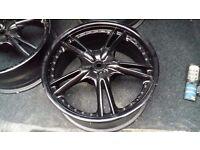 Alloy wheels 17/7 4 stud