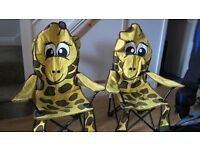 2 x children's folding camping chairs