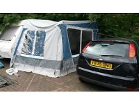 DWT ZELTE CRISTAL CARAVAN AWNING STILL LIKE NEW CONDITION COMPLETE WITH INSTRUCTION MADE IN GERMANY