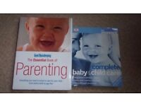 Complete Baby & Child Care By Miriam Stoppard & Good Housekeeping Essential Book of Parenting