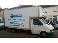 MAN AND VAN SERVICES 24/7 , REMOVALS UK & EUROPE , LUTON & TRANSIT