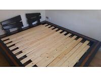 Superking size bed - Oak frame - Underbed drawers