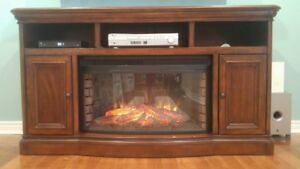 Electric fire place and media cabinet