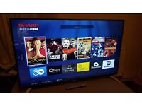 Sharp 49 Inch Smart Full HD 1080p LED TV -LC49CFE6032K with Freeview HD, EXCELLENT CONDITION