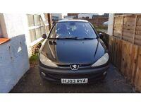 Peugeot 206 ltd edition Black £250ono spares or repair