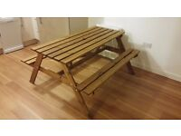 B&Q Outdoor treated garden bench **Price Reduced** £15