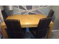 Dining table amd 4 chairs.