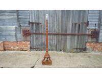 Superb Ornate Vintage Hardwood and Walnut Lamp Standard.22/2