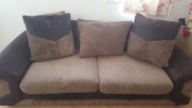 Two seater sofa+Free TV table