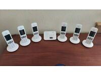 Seimens Gigaset Premium E370A - Big Buttons - 6 Handsets - Answer Machine