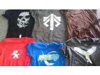Various gaming t-shirts