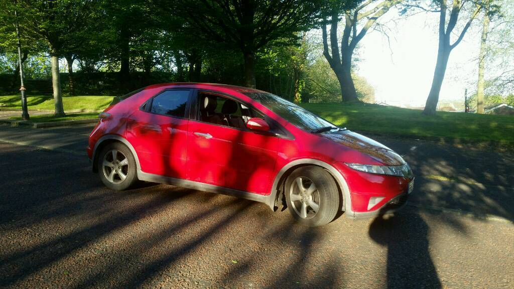 2007 Honda Civic 1.8 Se Semi Automatic Red Hpi clear Excellent runner