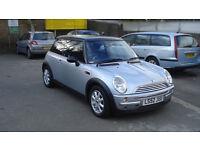 mini cooper silver, pan roof, e/window, c/windows ,nice car alloys new mot