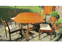 Teak gate-leg table & 4 G-plan dining chairs - excellent condition