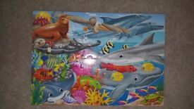 4 80 piece wooden jigsaw puzzle