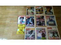 11 x oasis liam noel magazines 90's nme / face / tour prog