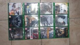 12 Xbox one games as new some sealed