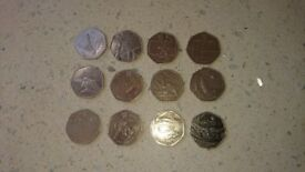 Selection of Olympic 50ps