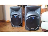 Mackie srm450 speakers with bags and cables. £480 ono