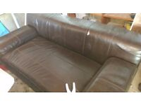 2 leather IKEA sofas