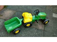 Childs toy tractor