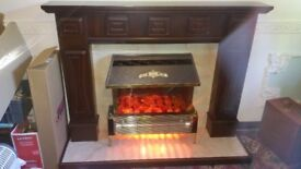 Fire place and electri fire