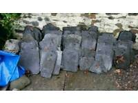 Slates-spares, garden project