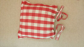 M&S Seat cushions Red, Read and white Check..8 cushions for chair