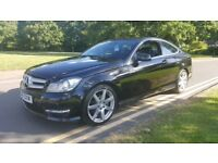 2011 MERCEDES C CLASS C220 CDI COUPE AMG SPORT AUTOMATIC FULL SERVICE HISTORY FULLY LOADED