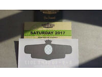 10 x GOODWOOD REVIVAL SATURDAY TICKETS 9 SEP 2017 DELIVERY WORLDWIDE + BONUS CAR STICKER