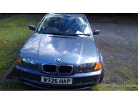 Automatic Blue Sedan BMW 93k mileage Sold As Is