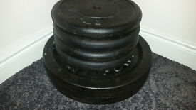 """Standard 1"""" 10kg and 20kg Cast Iron Weight Plates"""