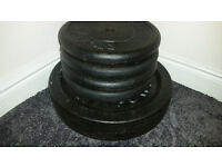 "Standard 1"" 10kg and 20kg Cast Iron Weight Plates"